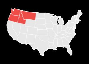 Map of the Regional Areas Served by NWABA, Including Washington, Oregon, Idaho, and Montana
