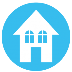 House in Blue Circle Icon
