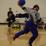 TJ, Avalanche Goalball Player, Throwing Ball