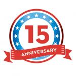 15th Year Emblem